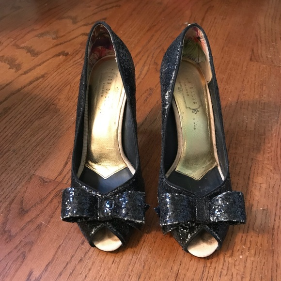 710ff2114 Ted Baker London Shoes | Ted Baker Sparkly Bow Peeptoe Pumps | Poshmark
